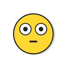 yellow sad face shocked negative people emotion vector image