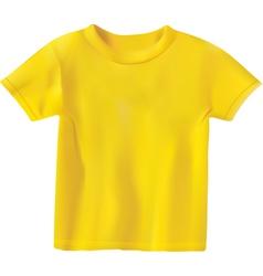 Yellow t-shirt design template vector