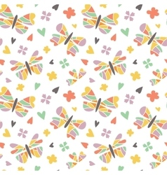 Butterfly seamless patterns vector image vector image