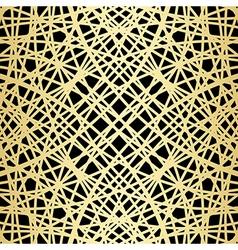 Gold pattern on black - crossed lines vector