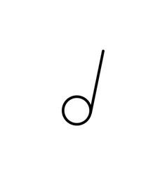 half music tone icon vector image vector image