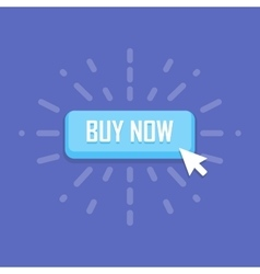 Mouse click on buy now button icon vector image