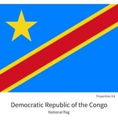 National flag Democratic Republic of the Congo vector image