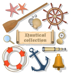 Nautical Collection 3 vector image vector image