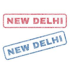 new delhi textile stamps vector image
