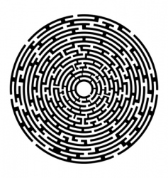 round maze izolated on white vector image vector image