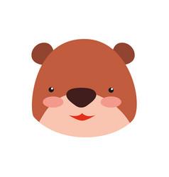 Teddy bear cartoon infantile head vector