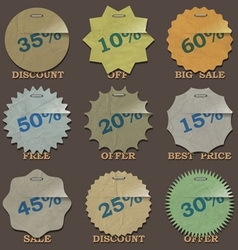 Vintage sale stickers and labels vector image vector image