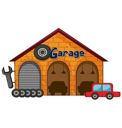 A garage shop vector image
