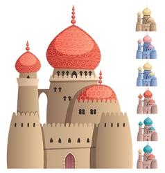 Arabian Castle on White vector image vector image