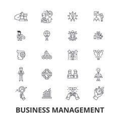 business management marketing plan manager vector image