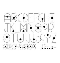 futuristic type english alphabet in futuristic or vector image