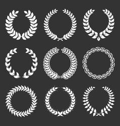 vintage decorative laurels elements set vector image