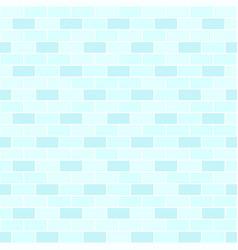 Cyan brick wall pattern seamless brick background vector