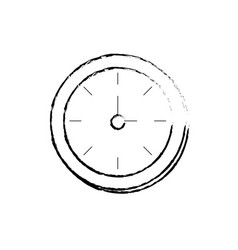 figure round wall clock object to know the time vector image vector image