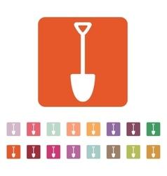 The shovel icon Spade symbol Flat vector image vector image