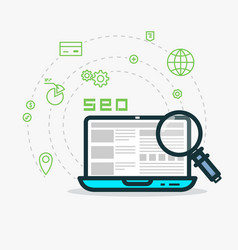 web analytics and seo vector image