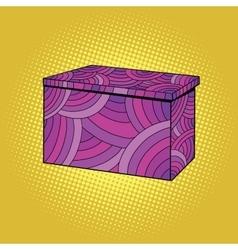 Festive burgundy gift box vector