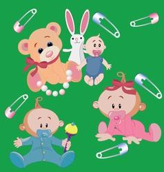 infants vector image