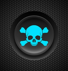 Skull and crossbones button vector image vector image