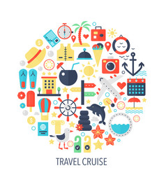 travel color cruise vector image