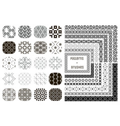 20 geometric patterns and 12 pattern vector