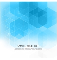 Abstract geometric background Blue hexagon vector