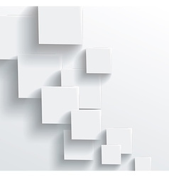 Abstract geometric shape from gray cubes White vector image