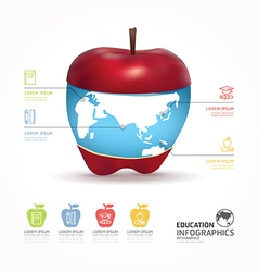 Abstract infographic Design world with apple templ vector image