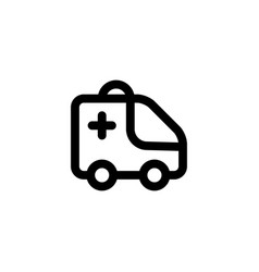 ambulance emergencey icon vector image