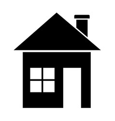 black home in the simple style vector image