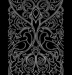 Black pattern with birds vector