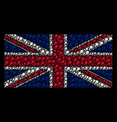 British flag collage of starting star items vector