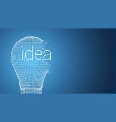bulb idea concept vector image