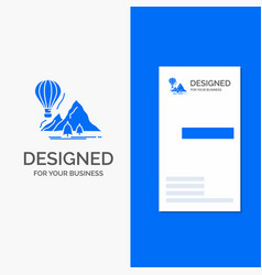 business logo for explore travel mountains vector image