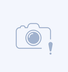 Camera icon with exclamation mark vector