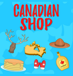 canadian shop concept banner cartoon style vector image