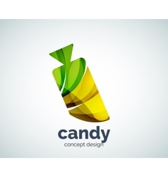 Candy logo template vector
