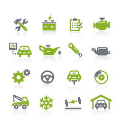car service icons natura series vector image