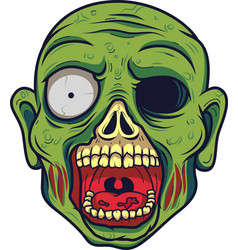 Cartoon zombie head vector