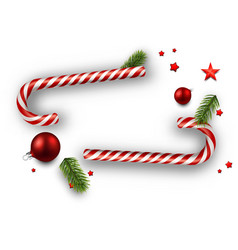 christmas background with candy canes vector image