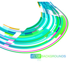 colorful curved lines motion on a white vector image