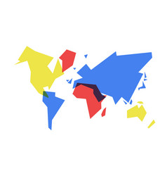 Colorful world map abstract geometry vector