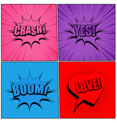 comic pages original trendy backgrounds vector image