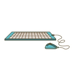 computer keyboard mouse icon vector image