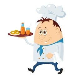 Cook with drinks vector image