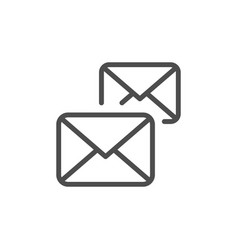 copy mail line outline icon vector image