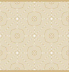 creative golden lines seamless pattern vector image