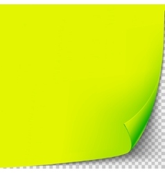 Curl corner yellow paper template Transparent vector image