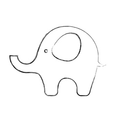 cute elephant baby icon vector image